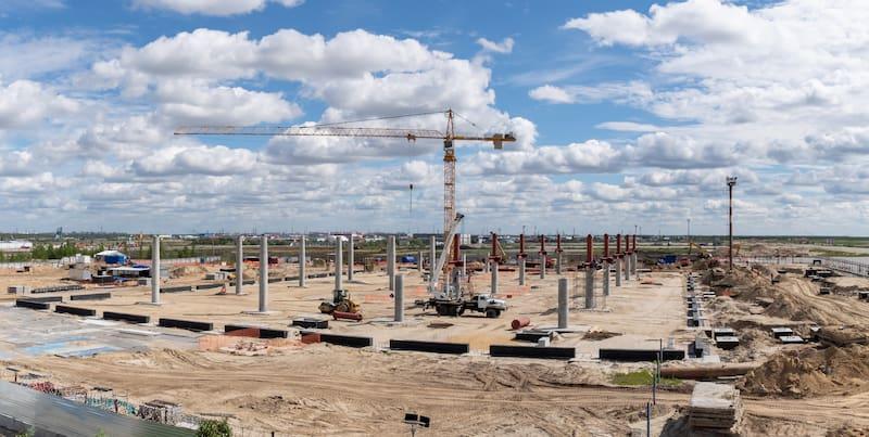 Начался монтаж металлоконструкций для нового терминала аэропорта Новый Уренгой