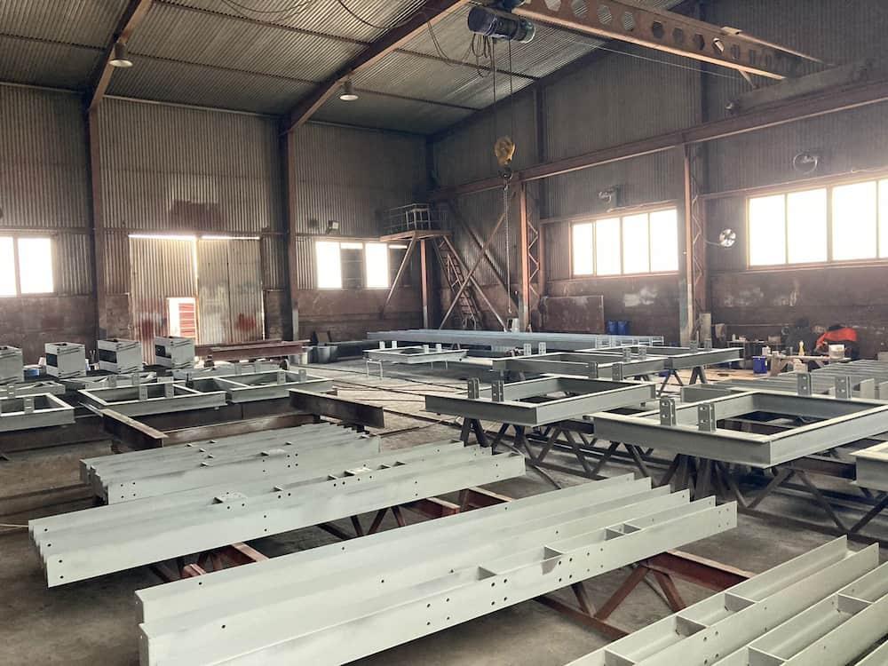 Изготовление металлоконструкций каркаса для линии горячего оцинкования